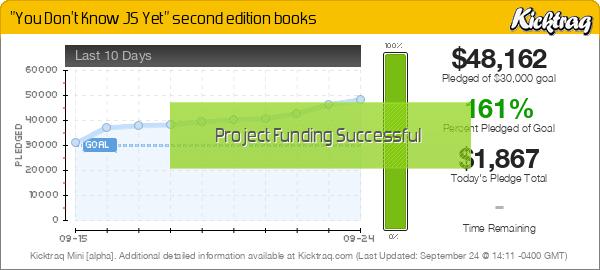 """You Don't Know JS Yet"" second edition books -- Kicktraq Mini"