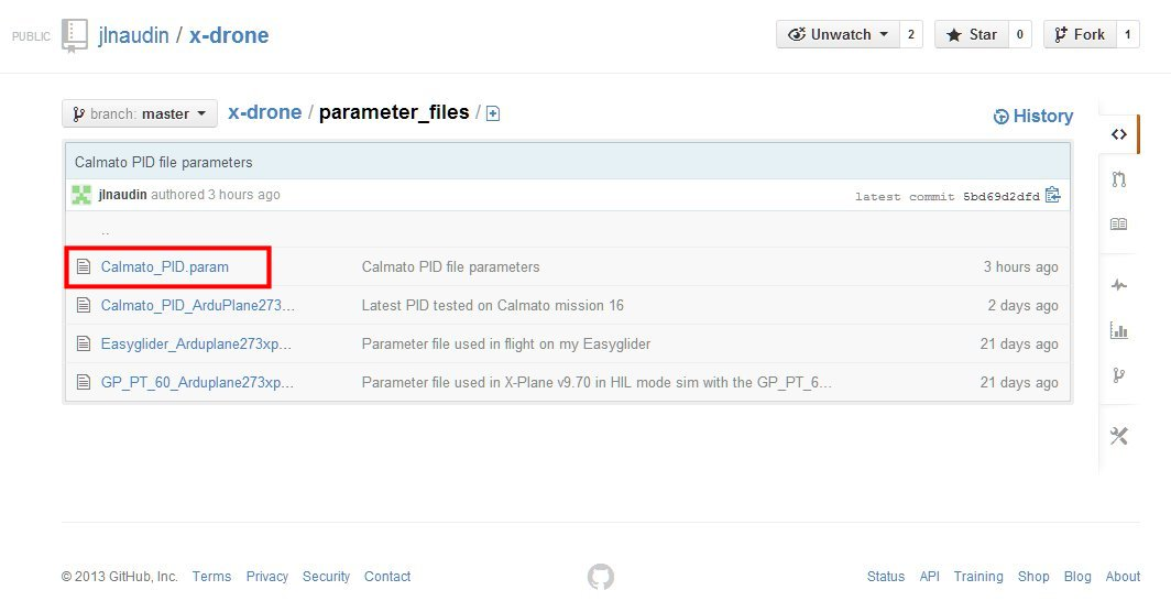 How to read and install the PID parameters file for the Calmato