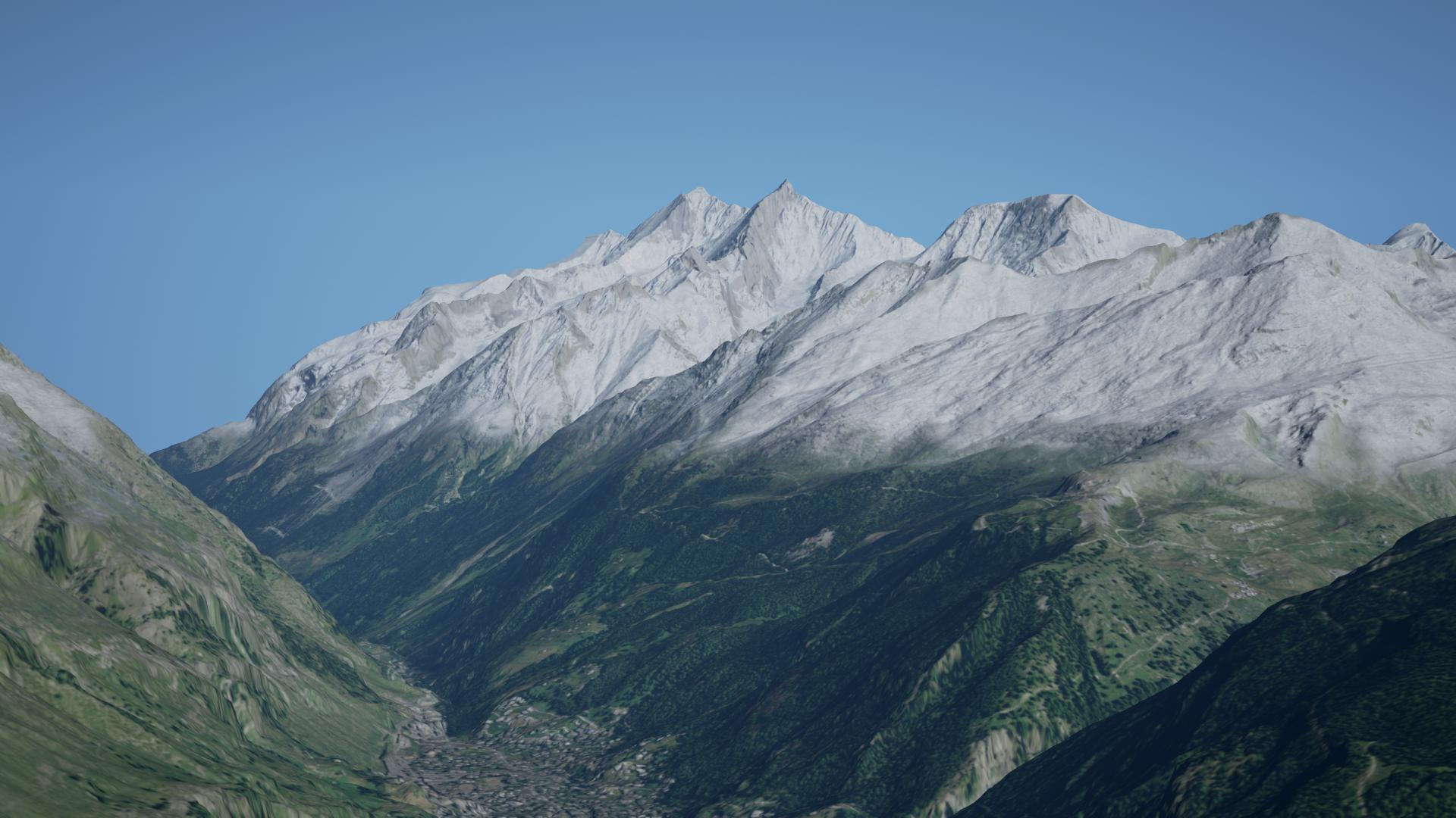 mountain with snow 2