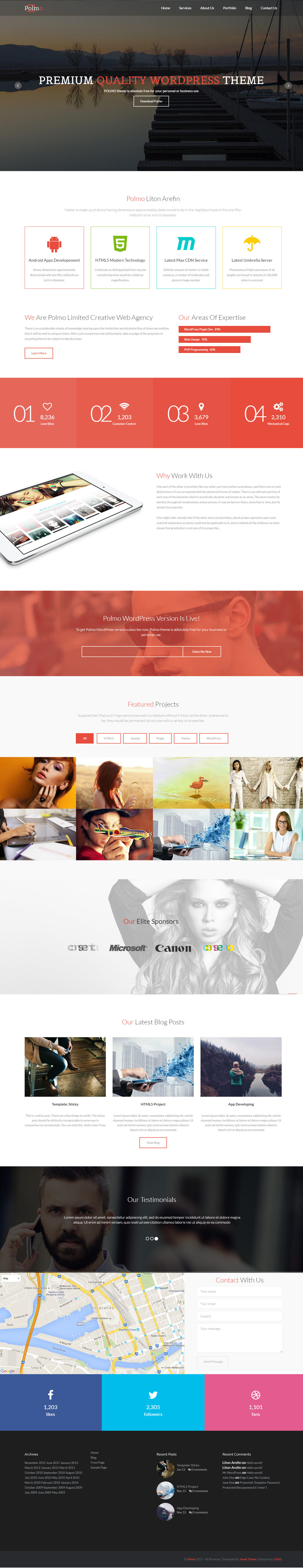 Polmo Free Multipurpose WordPress Theme