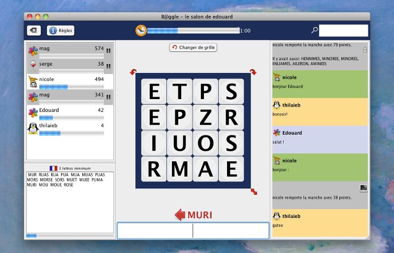 b@ggle client screenshot