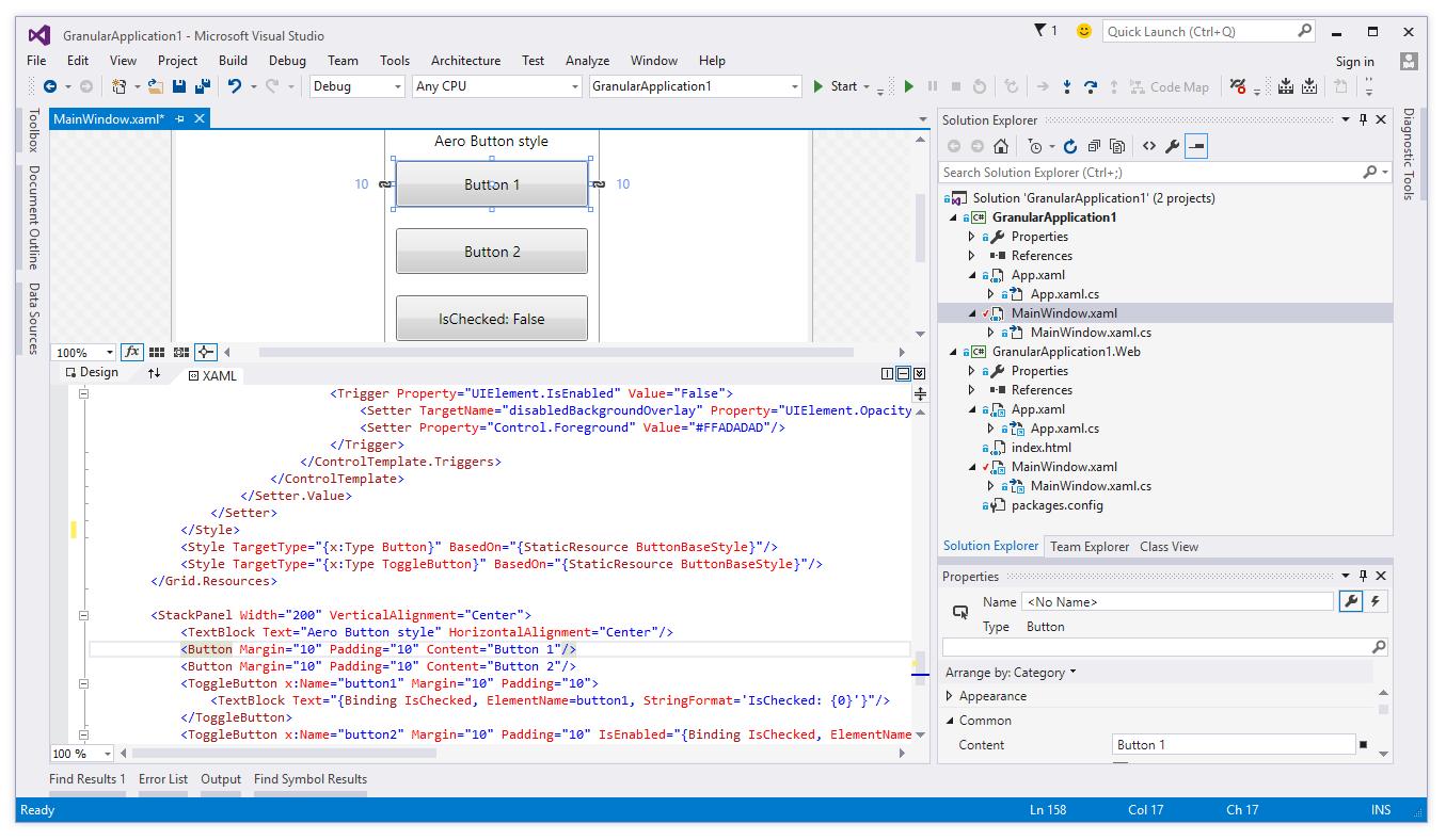 Visual Studio - Solution window