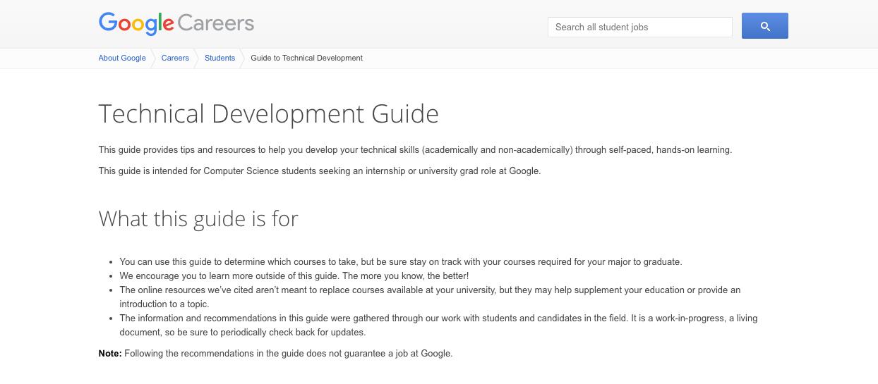 Google's Technical Development Guide