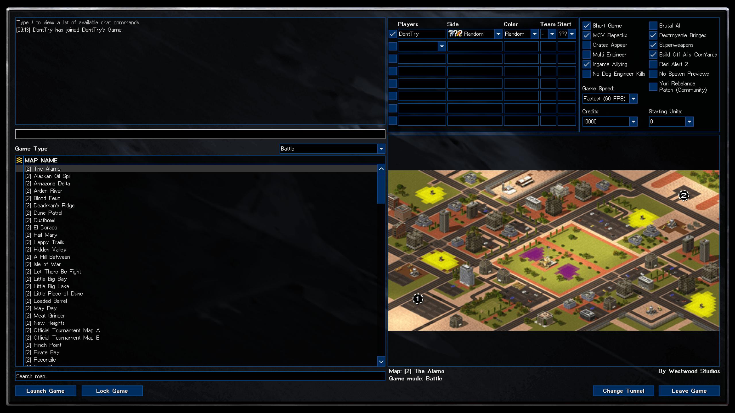 Allied Theme Custom Game Lobby