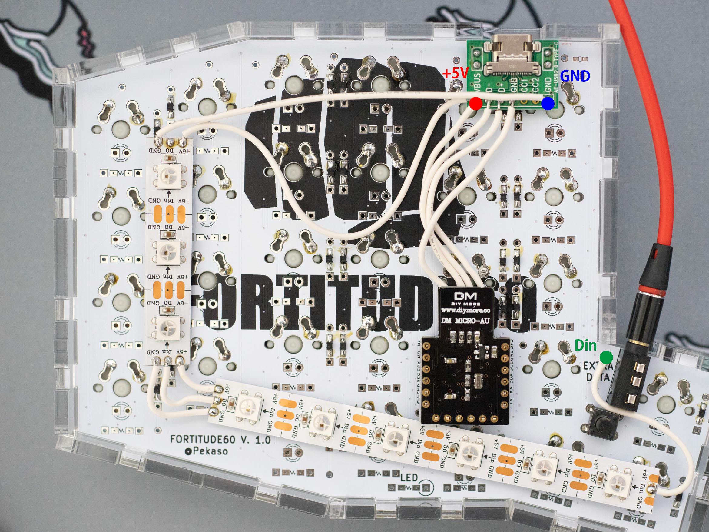 LEDテープ配線(左手側)