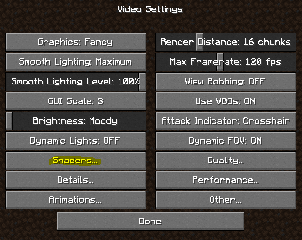 Enable Shaders
