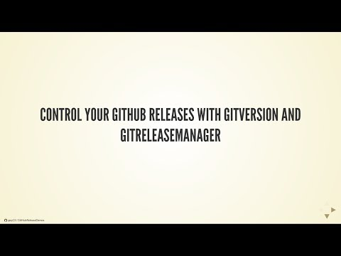 Control your GitHub Releases with GitVersion and GitReleaseManager