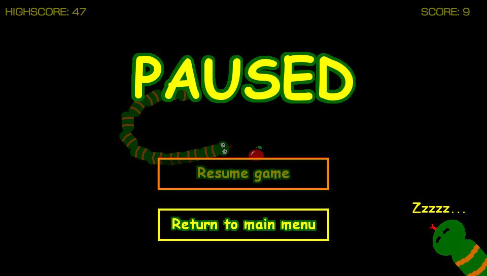 vitaSnake pause screenshot