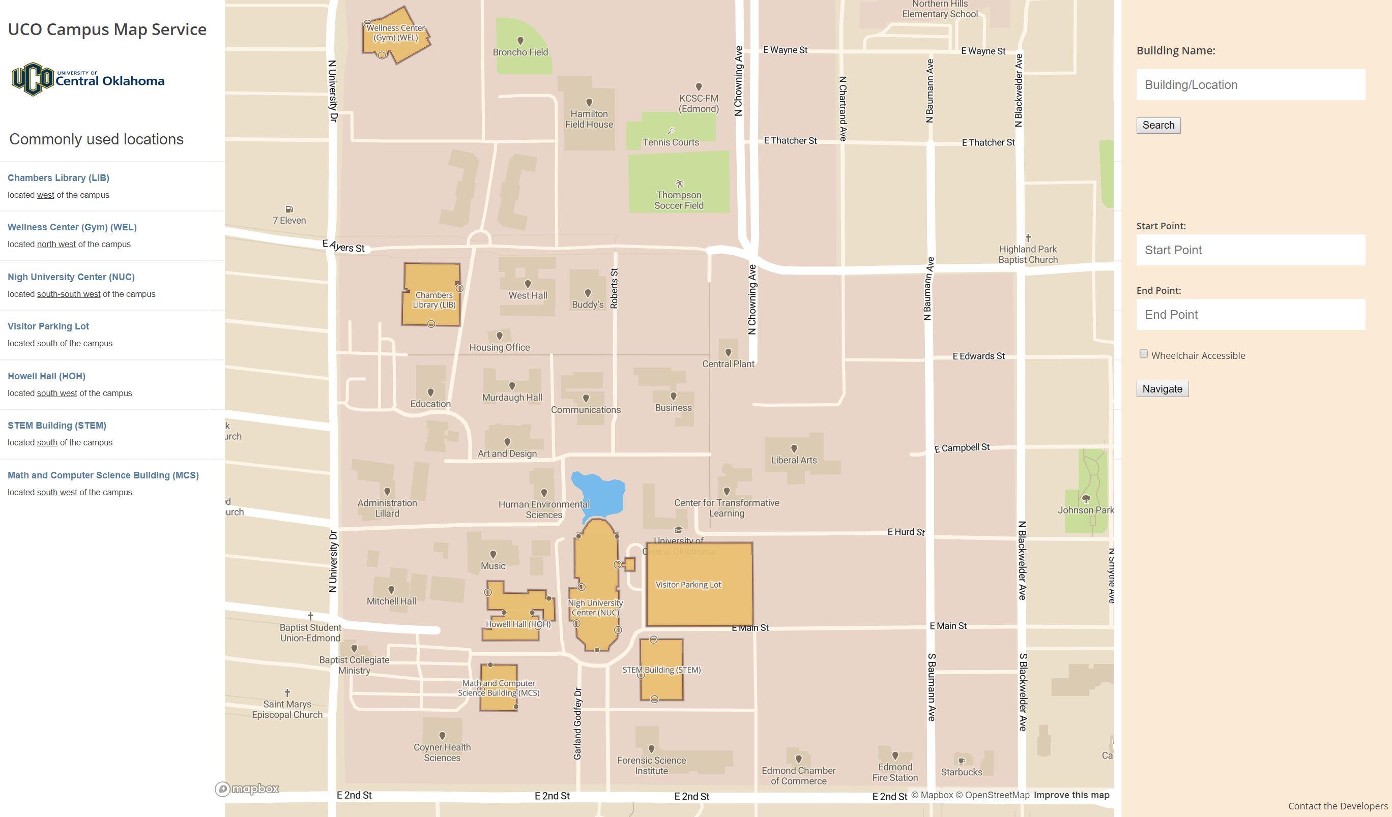 uco edmond campus map Github Derrick Evltfmr Ucocampusmap 2019 04 A Web Project For
