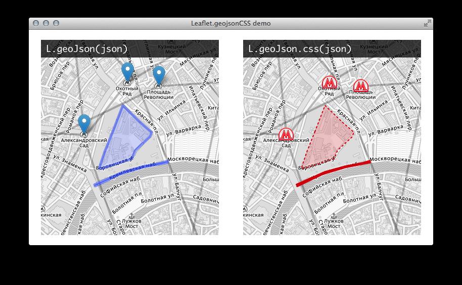 GitHub - albburtsev/Leaflet geojsonCSS: Geojson CSS implementation