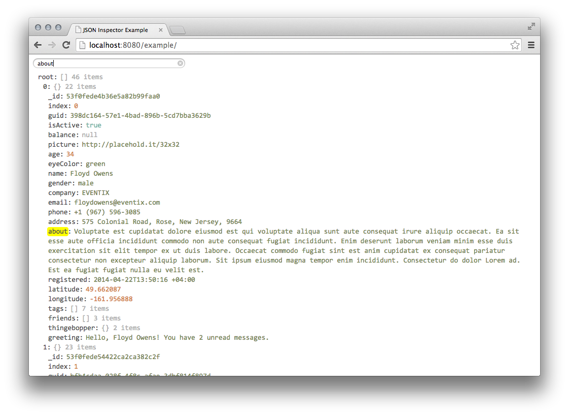 GitHub - Lapple/react-json-inspector: React JSON inspector