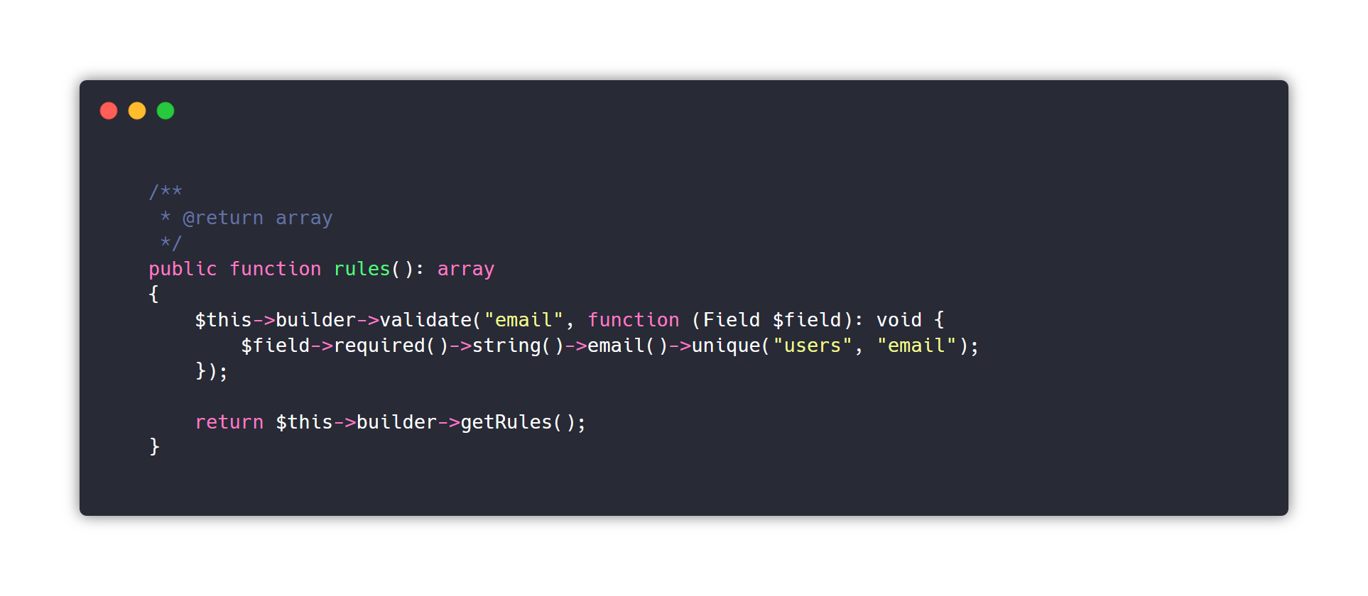 it's more lines of code but I personally think it's also more readable