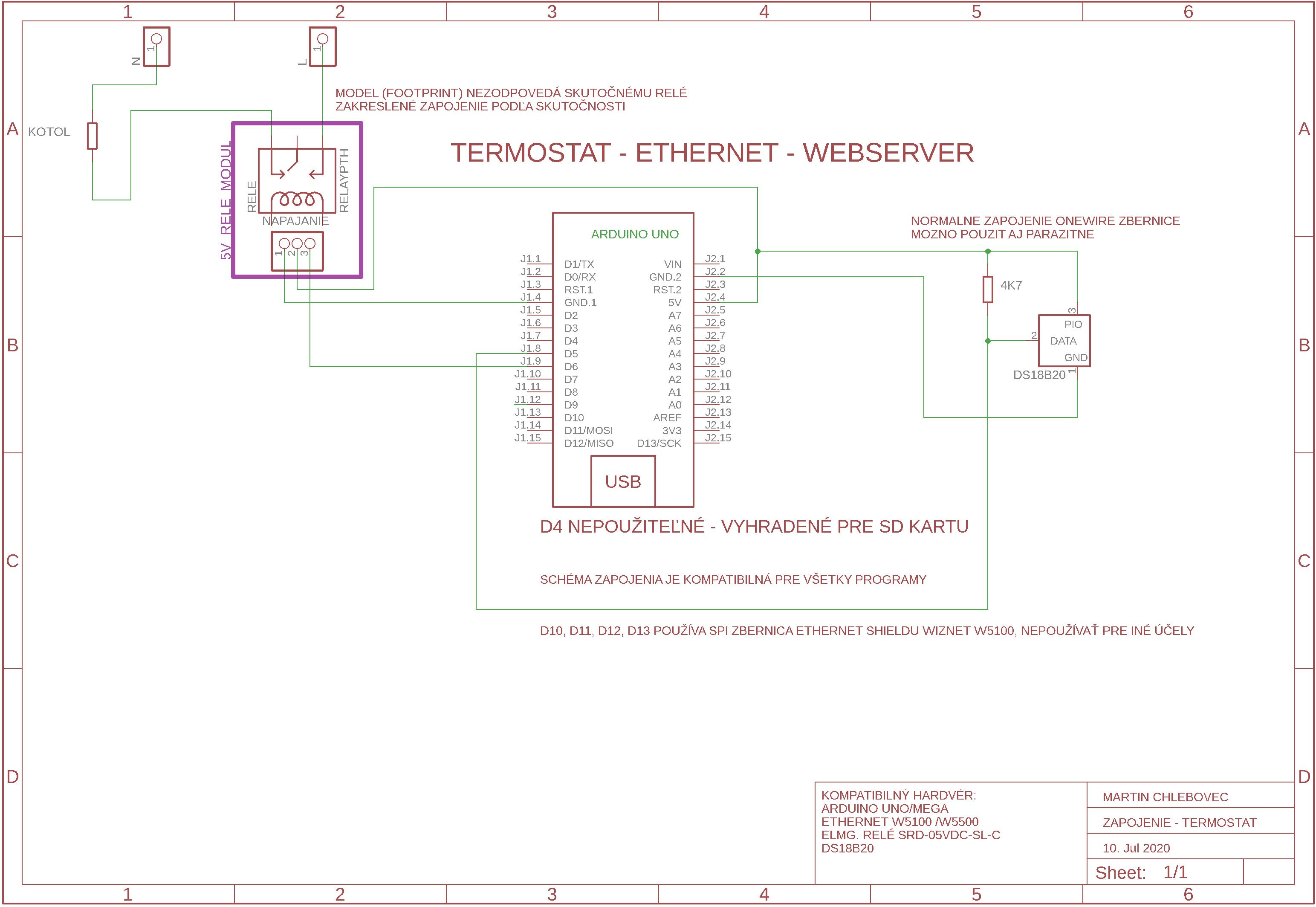 Termostat - Arduino + Ethernet W5100 - 恒温器-Arduino+以太网W5100