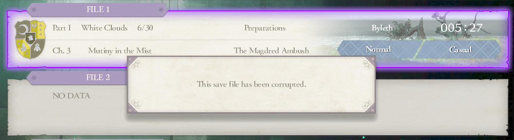 Fire Emblem: Three Houses - cannot load save data · Issue #2780