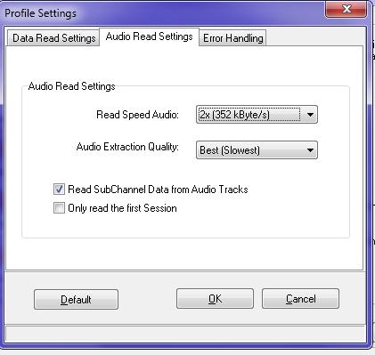 Audio Read Settings