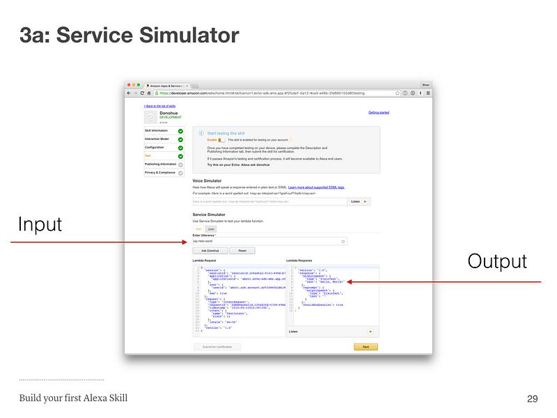 Step 3a: Service Simulator