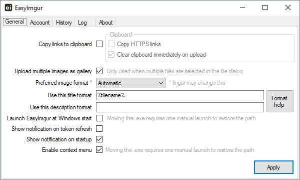 Settings tab screenshot