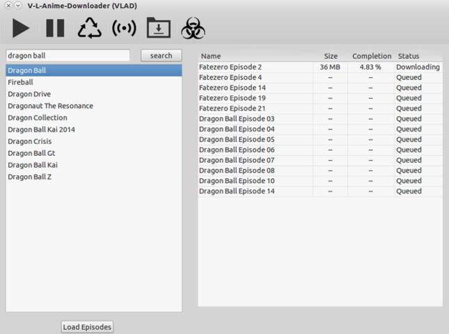 VLAD Download window