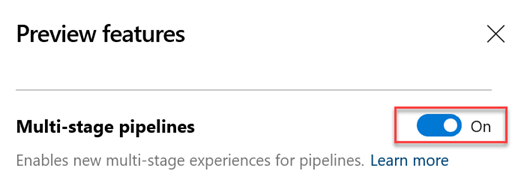 Multi-stage pipelins UX