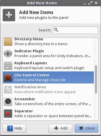 GitHub - shaggytwodope/litecontrolcenterapplet: Simple Xfce4