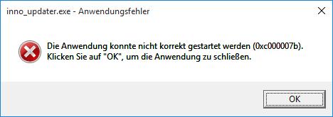 Error Code 0xc000007b while updating · Issue #43590