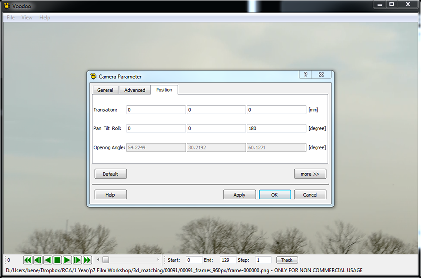 Set Camera Parameters