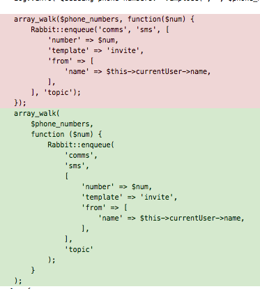 Forced CodeSniffer code