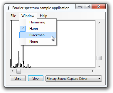 Fourier spectrum analyzer sample application