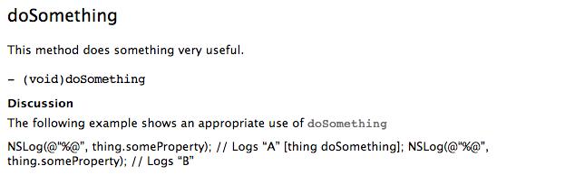 Documentation example with star prefix