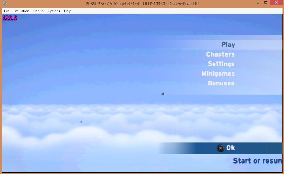 Disney Pixar UP Missing Menu Fonts (was visible before