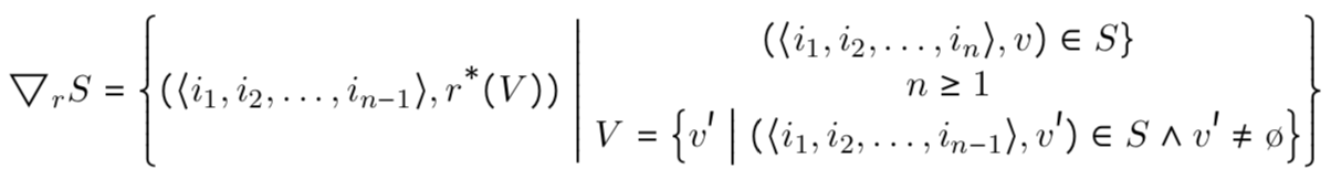 reduce formal definition
