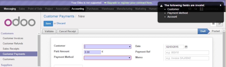 cancel receipt refund invoice does not work issue 5039 odoo