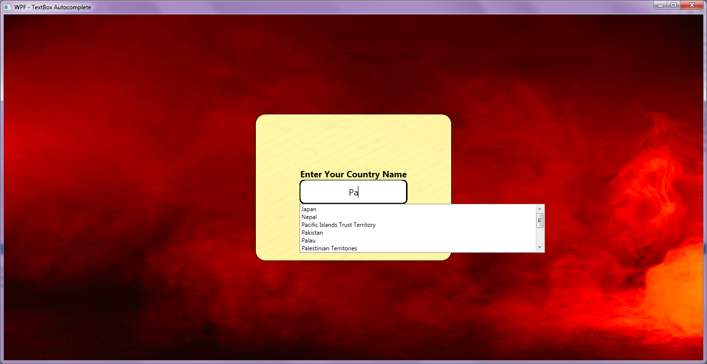 WPF: Auto Complete/Suggestion Text Box