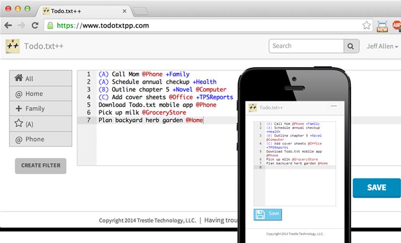 Todo.txt++ Screenshot