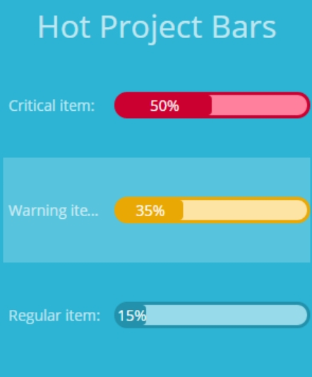 Hot Progress Bars example - screenshot