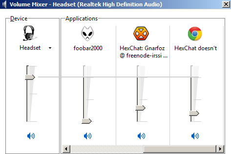 HexChat doesn't show in volume mixer · Issue #668 · hexchat