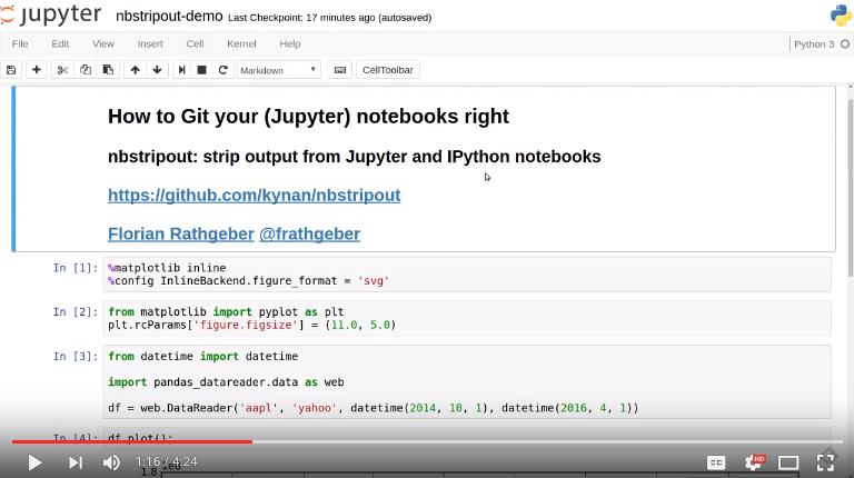 GitHub - kynan/nbstripout: strip output from Jupyter and IPython