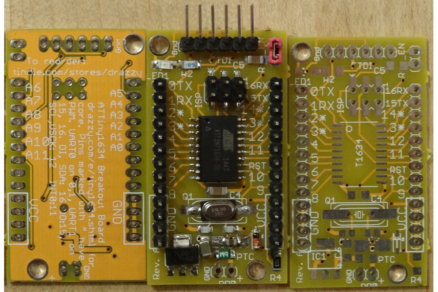 Picture of ATTiny1634 boards