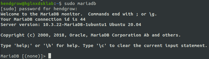 Login MariaDB