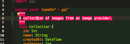 Screenshot of syntax highlighted
