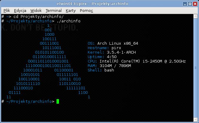 archinfo screenshoot