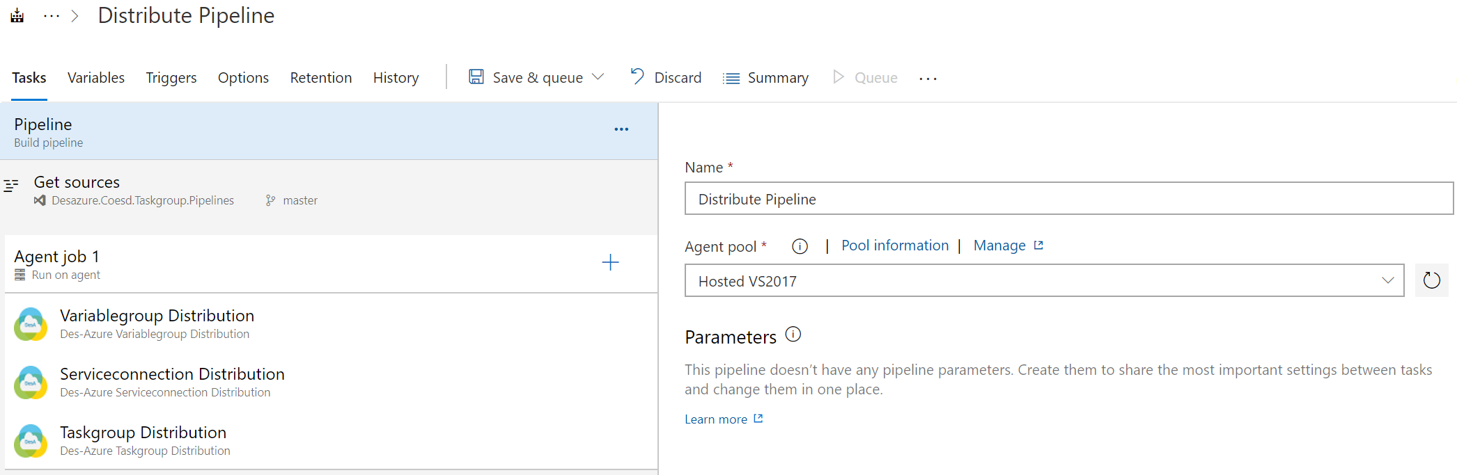 Azure DevOps Extension for Distribute Tasks in Classic UI Pipeline