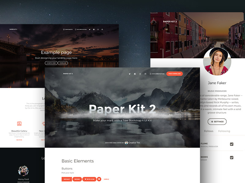 GitHub - creativetimofficial/paper-kit-2-angular: Free