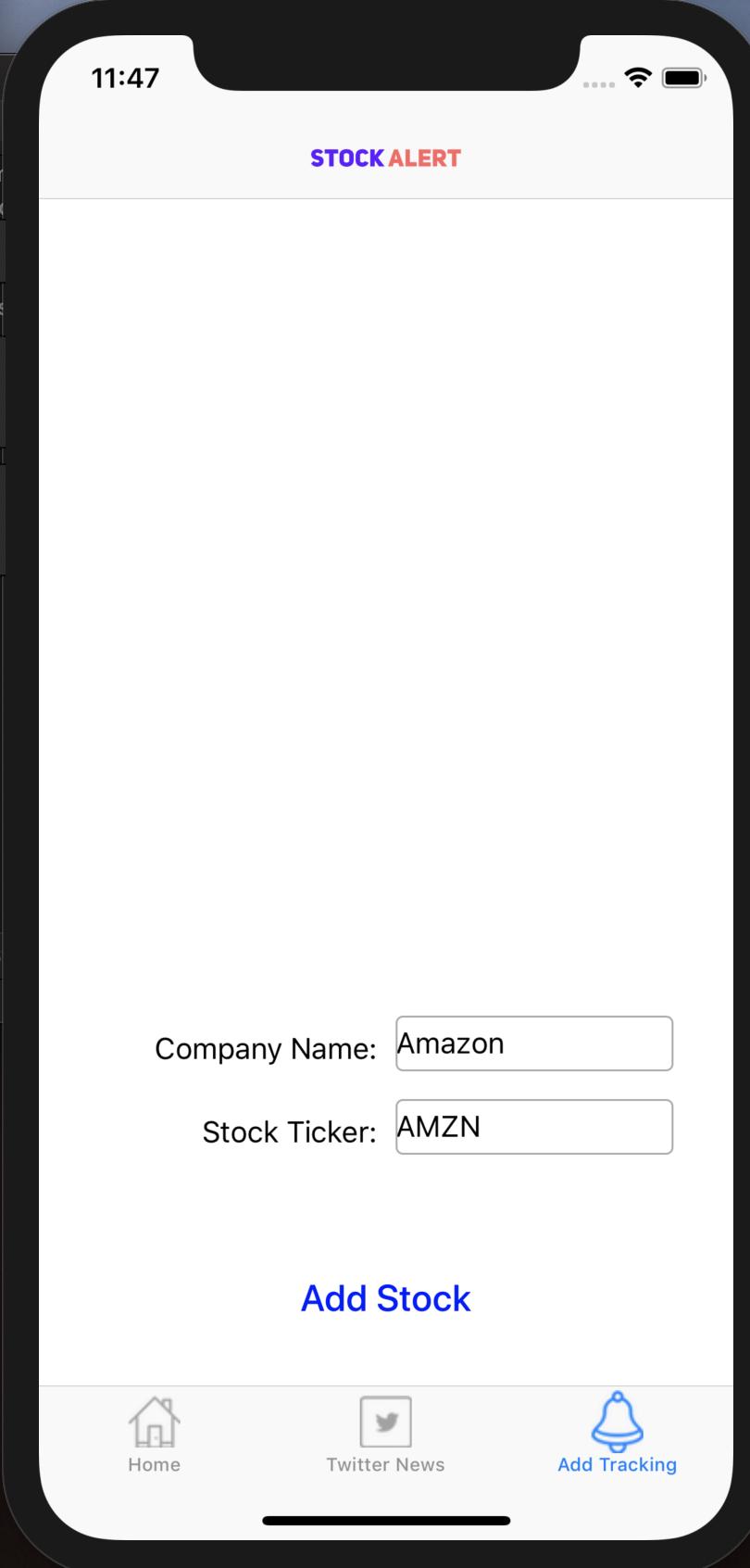 Adding stocks