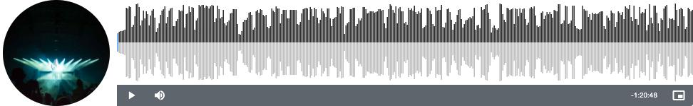 Simple json audio waveforms
