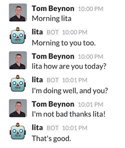 Example of a conversation with Lita