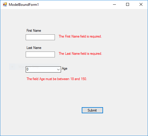 example ModelBoundForm