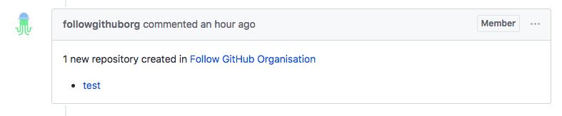 Repository creation notification