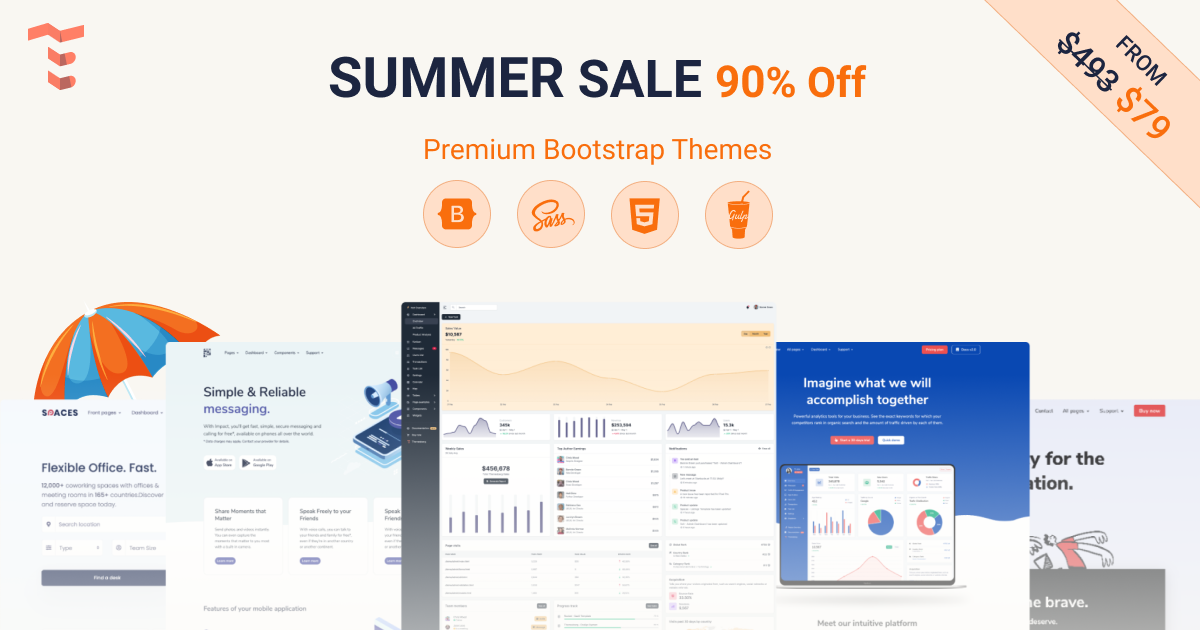 Summer Sale 90% Off All Bootstrap Themes 🏖