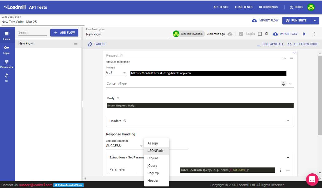 Loadmill API Test